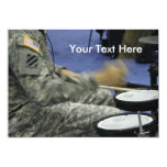 Military Soldier Drums USA Percussion Music Idea 5x7 Paper Invitation Card