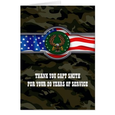 Military soldier retirement and thank you card