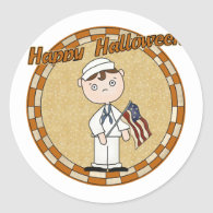 Military Soldier Round Stickers