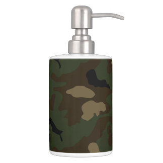Military Soldier Uniform Camouflage Pattern Army T Bathroom Set