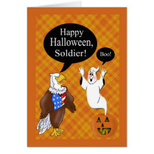 Military Soldier's Halloween Card