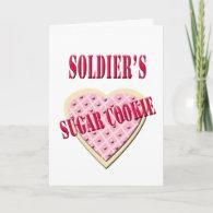 Military Soldier's Sugar Cookie Valentine Greeting Card