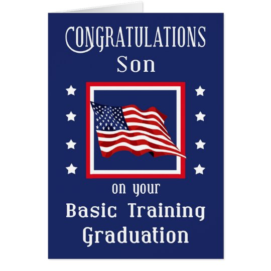 Military Son Basic Training Graduation Card | Zazzle