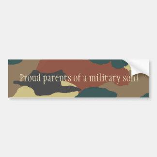 Military Son Camouflage Bumper Sticker