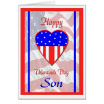 Military Son Valentine's Day Card