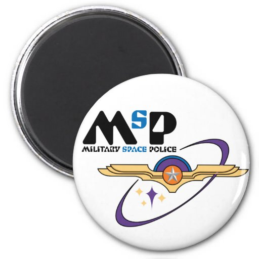 Military Space Police 2 Inch Round Magnet