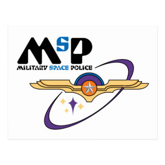 Military Space Police Postcard