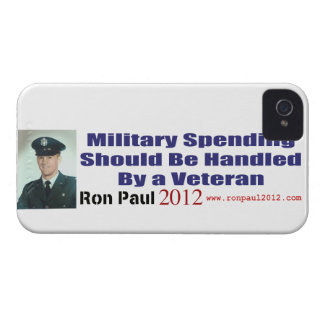 Military Spending Should Be Handled By A Veteran iPhone 4 Case-Mate Cases