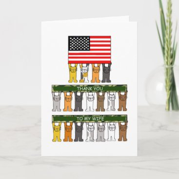 Military Spouse Appreciation, Wife. Card