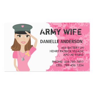 Military Spouse Calling Card Business Cards