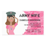 Military Spouse Calling Card (dark skin) Double-Sided Standard Business Cards (Pack Of 100)