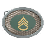 Military Staff Sergeant Buckle Oval Belt Buckle