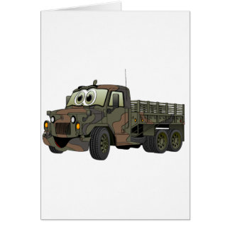 Military Stake Truck Cartoon Card