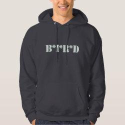 Men's Basic Hooded Sweatshirt with B*I*R*D design