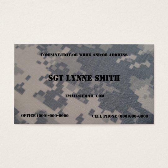military buisness cards