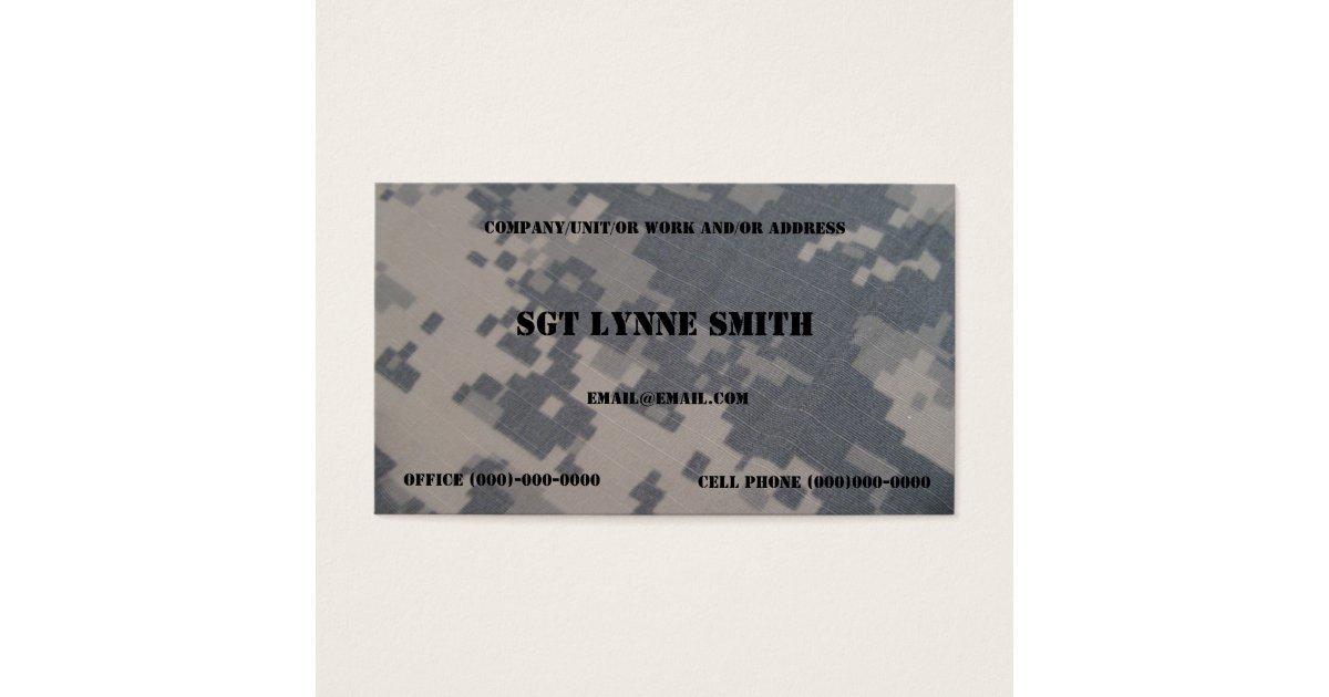 Free Military Business Cards | davidkaulcreative.com