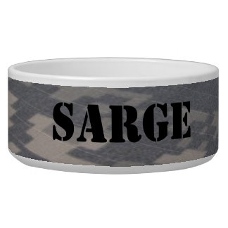 Military Style Camoflauge, Personalized Bowl