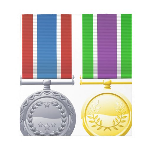 Military style medals note pad