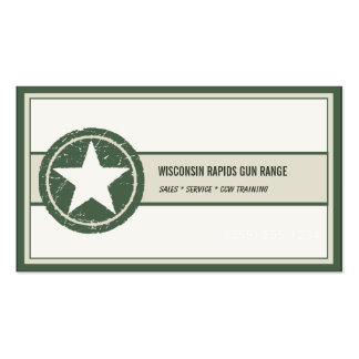 Military Style Patriotic Star Grunge Logo Double-Sided Standard Business Cards (Pack Of 100)
