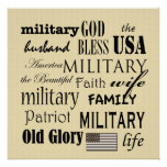 Military Subway Art Poster Print