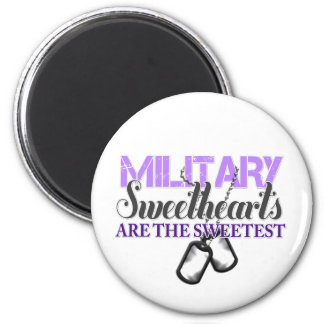 Military sweethearts 2 inch round magnet