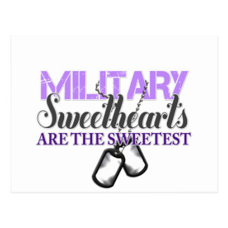 Military sweethearts postcard
