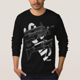fn gifts on zazzle P90 Firearm military t shirts fn scar assault rifle