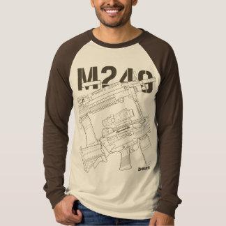 military t-shirts M249 light machine gun