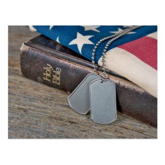 Military Tags Postcard