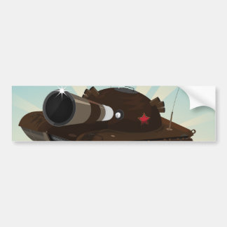 Military Tank Bumper Sticker
