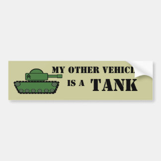 Military Tank Bumper Sticker