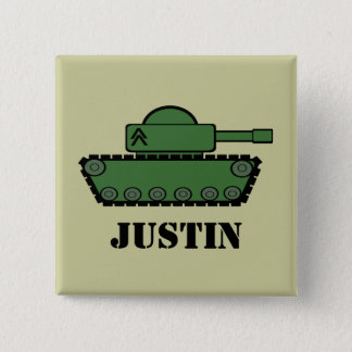 Military Tank Button