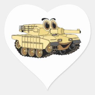 Military Tank Cartoon Heart Stickers