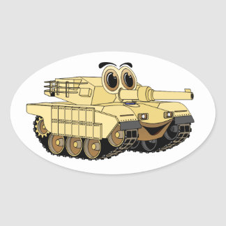 Military Tank Cartoon Sticker
