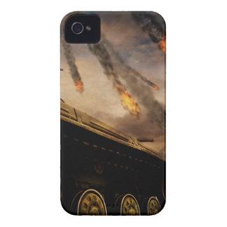 Military Tank on Battlefield iPhone 4 Case