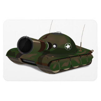 Military Tank Rectangle Magnets