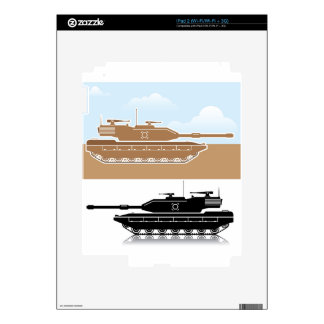 Military Tank simple vector Decals For iPad 2