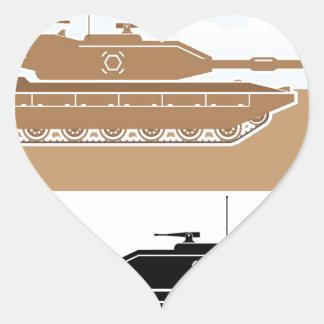 Military Tank simple vector Heart Sticker