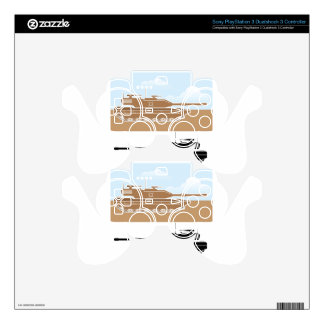 Military Tank simple vector PS3 Controller Skins