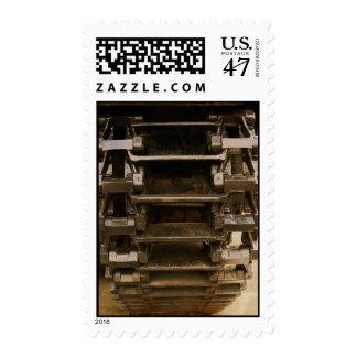 military tank wheel postage
