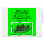 military teamwork joke greeting card