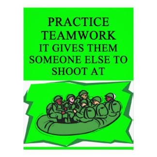 military teamwork joke letterhead design