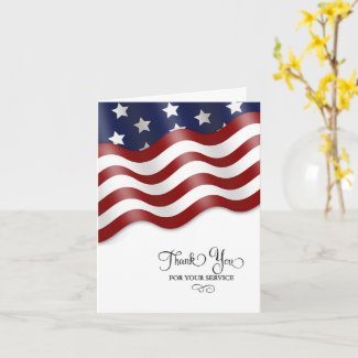 Military Thank You for Your Service Card