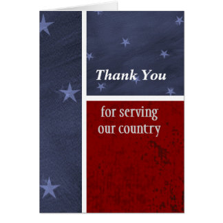 Military Thank You Patriotic Custom Card