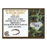 Military theme birthday party custom invite