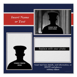 Military Themed Photo Collage Poster