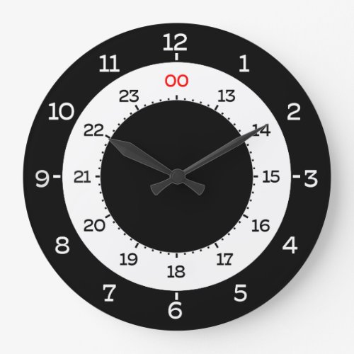 MILITARY TIME _ 12_HOUR FORMAT LARGE CLOCK