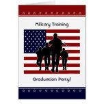 Military Training Graduation Party Custom Invite Card