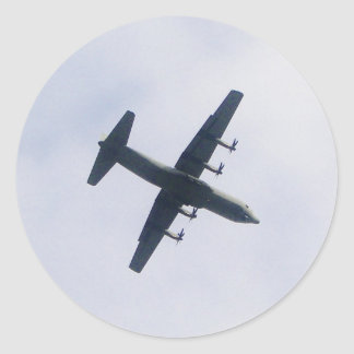 Military Transport Aircraft Classic Round Sticker