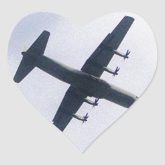 Military Transport Aircraft Heart Sticker